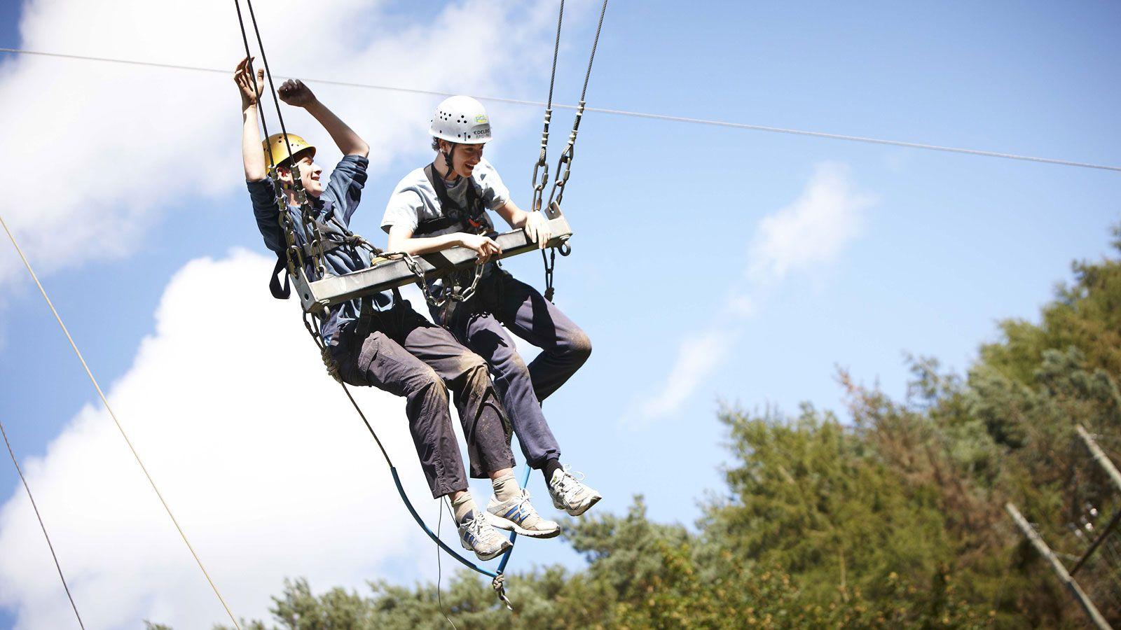 Развлечения в летнем лагере в Marchants Hill